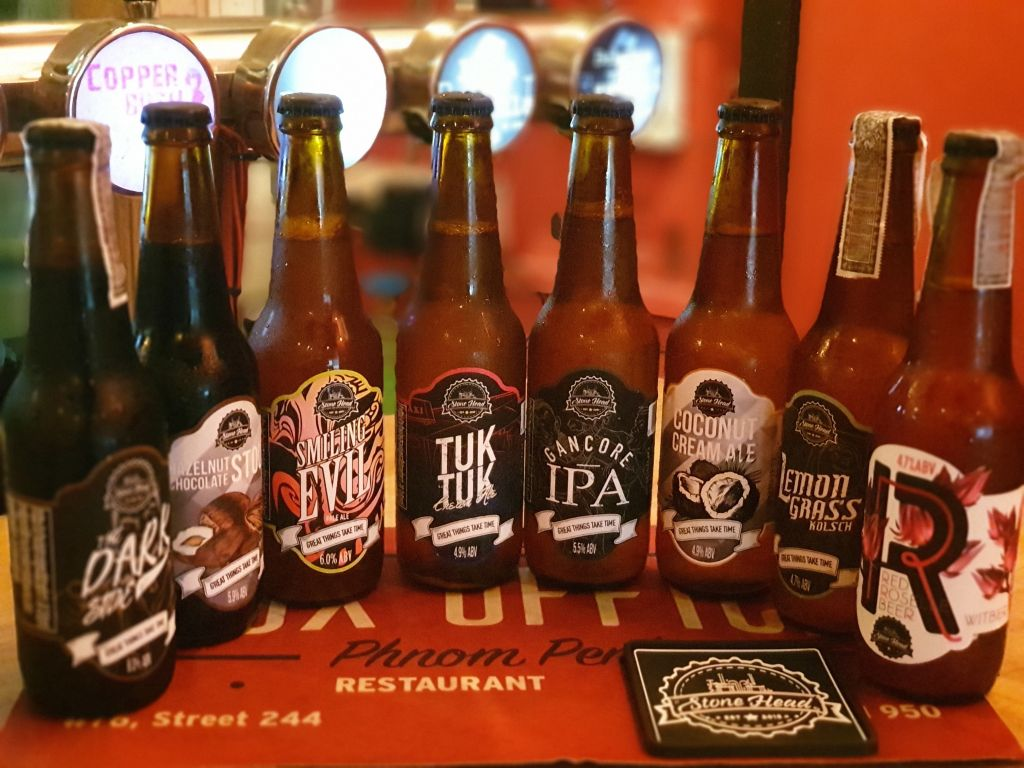 Some of the great stonehead bottled craft beers available at The Box Office.